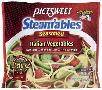 STEAM'ABLES DELUXE Italian W/Fettuccini & Tuscan Garlic Seasoning Vegetables