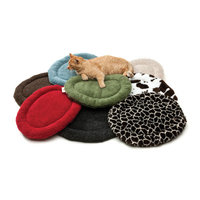 West Paw Design Nature Nap Oval Chevron Rust Dog Bed