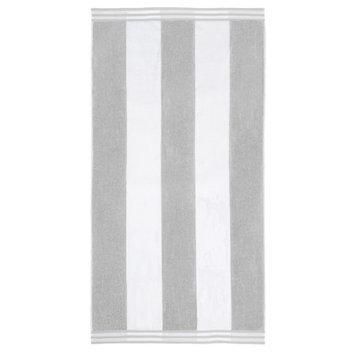 Wayfair Basics Superior Oversized Cotton Cabana Stripes Beach Towel Color: Light Gray