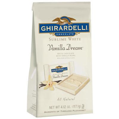 Ghirardelli Chocolate Sublime White Vanilla Dream Chocolate 4.12 Oz Stand Up Bag