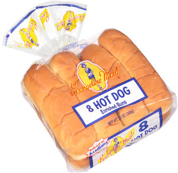 Evangeline Maid® Hot Dog Enriched Buns 8 ct Bag