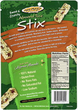 Mrs. May's Naturals® Almond Rice Stix Roasted Seaweed (Nori) 4 oz Peg