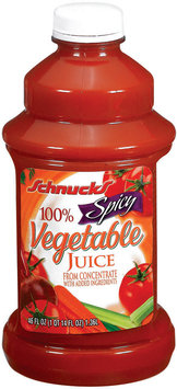 Schnucks 100% from Concentrate Spicy Vegetable Juice 46 Oz Plastic Bottle