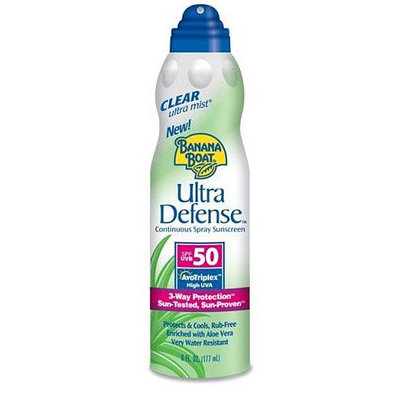 Banana Boat Ultramist Ultra Defense Clear Spray Sunblock With SPF 50