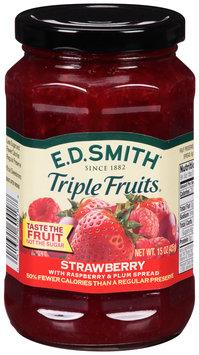 E.D. Smith® Triple Fruits® Strawberry with Raspberry & Plum Fruit Spread 15 oz. Jar