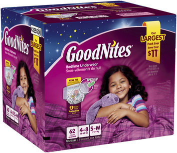 GoodNites® Girl's Bedtime Underwear Small/Medium 62 ct Box