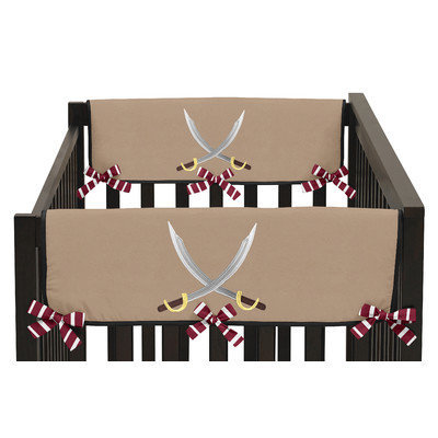Sweet Jojo Designs Pirate Treasure Cove Side Crib Rail Guard Cover