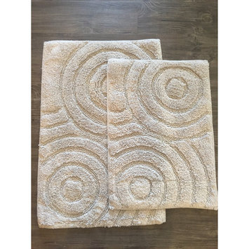 Am Home Textiles Mixed Circles 2 Piece Bath Mat Set, Grey