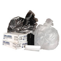 Inteplast Group IBS VALH2433N8 High Density Commercial Can Liners 24x33 8 Mic Natural