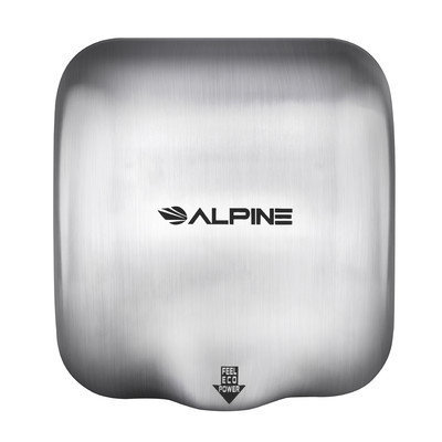 Alpine Industries Hemlock High Speed Commercial 220 Volt Hand Dryer in Stainless Steel
