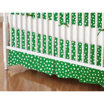 Sheetworld Fun Dots Crib Skirt Color: Forest Green