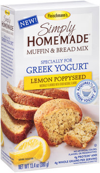 Fleischmann's® Simply Homemade® Lemon Poppyseed Muffin & Bread Baking Mix 13.4 oz. Box