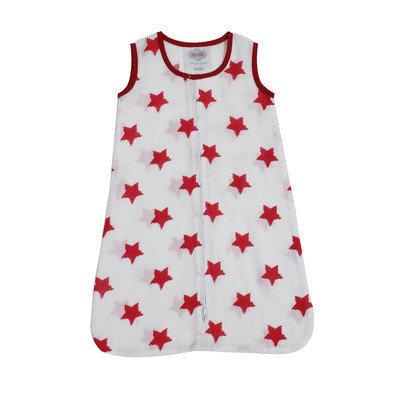 Bacati Stars Sleep Sack Size: Small, Color: Red