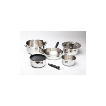 Galleyware Company Nesting Stainless Steel 12 Piece Cookware Set