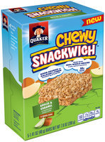 Quaker® Chewy Snackwich™ Apples & Caramel Snack Bars 5-1.41 oz. Bar