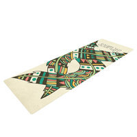 Kess Inhouse Soulmate Feathers by Pom Graphic Design Yoga Mat