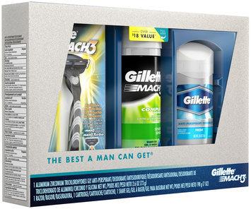 Gillette MACH3 Holiday Shave Kit: 1 MACH3 Razor with 1 MACH3 Razor Blade, 1 Deodorant 2.6oz, 1 Shave Gel 7oz, 1 kit