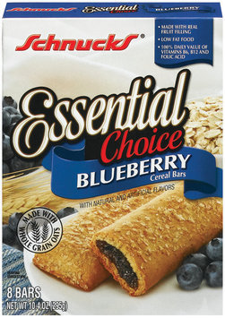 Schnucks Essential Choice Blueberry Cereal Bars 10.4 Oz Box