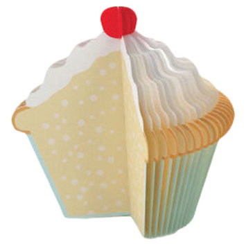 Kikkerland Memo Pad Cupcake (Set of 2)