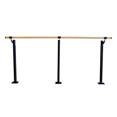 Vitavibe Floor Barre Series Traditional Wood Single Bar Ballet Barre Kit Size: 6 ft.