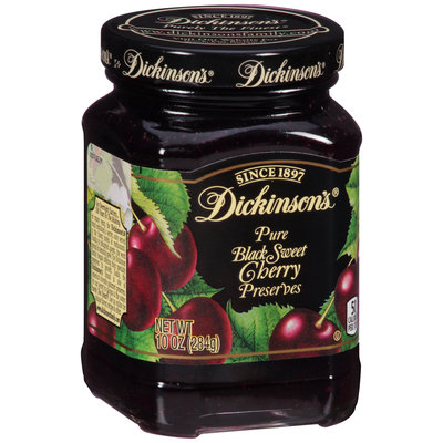 Dickinson's® Pure Black Sweet Cherry Preserves 10 oz. Jar
