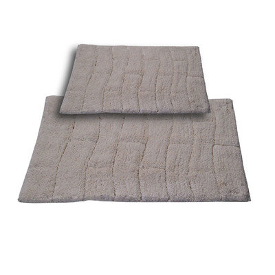 Textile Decor Castle 2 Piece 100% Cotton New Tile Spray Latex Bath Rug Set, 34 H X 21 W and 40 H X 24 W, Ivory