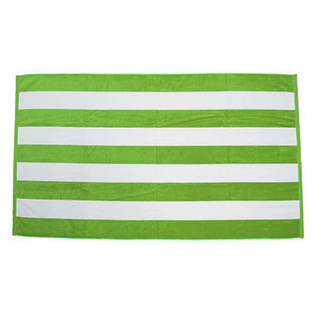 Terry Town Beach Towel Color: Lime / White
