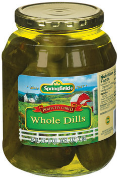 Springfield Whole Dill Pickels