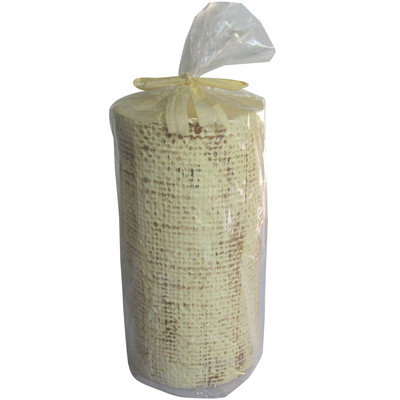 Accents By Jay Painted Linen Pillar Candle