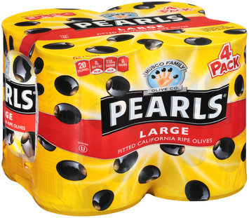 Peals® Large Pitted Ripe Black Olives 4-6 oz. Cans