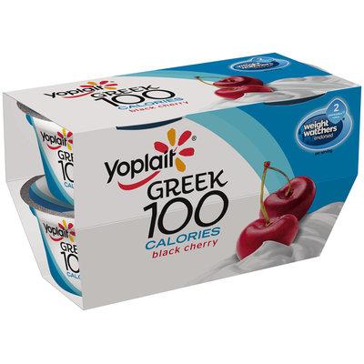 Yoplait® Greek 100 Calories Black Cherry Fat Free Yogurt 4-5.3 oz. Cups