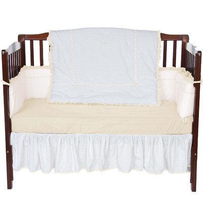 Baby Doll Bedding Unique 4 Piece Crib Bedding Set Color: Ecru