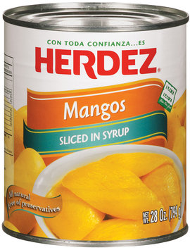 Herdez® Sliced Mangos In Syrup 28 oz. Can