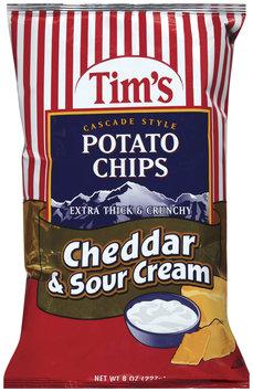 TIM'S Extra Thick & Crunchy Cheddar & Sour Cream Potato Chips 8 OZ BAG