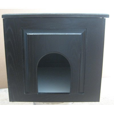 Classic Pet Beds Raised Panel Litter Box Concealment Cabinet Side Opening: Left, Finish: Espresso