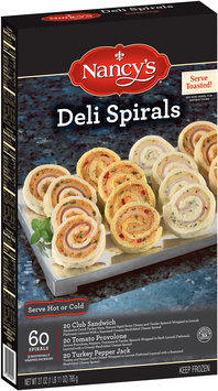 Nancy's Club Sandwich, Tomato Provolone, and Turkey Pepper Jack Deli Spirals 27 oz. Box