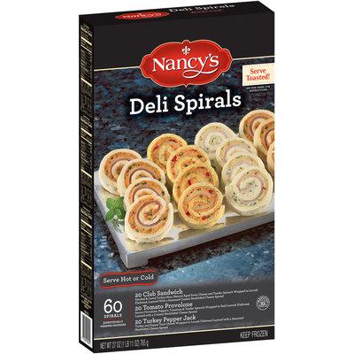 Nancy's Club Sandwich, Tomato Provolone, and Turkey Pepper Jack Deli Spirals 27 oz. Box