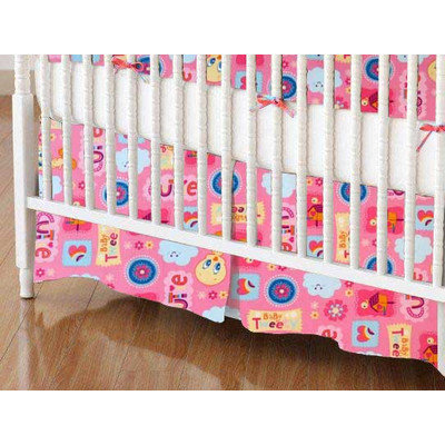 Stwd Baby Tweety Crib Skirt Color: Pink