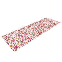 Kess Inhouse Pink Flowers Garden by Carolyn Greifeld Yoga Mat