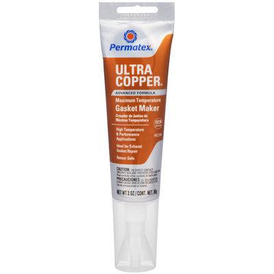 Permatex® Ultra Copper® Advanced Formula Maximum Temperature Gasket Maker 3 oz. Tube