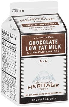 Stremicks Heritage Foods® Chocolate Low Fat Milk 1 pt. Carton