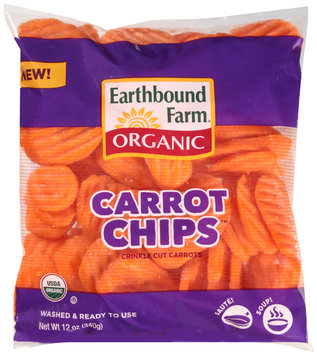 Earthbound Farm® Carrot Chips™ Organic Crinkle Cut Carrots 12 oz. Bag