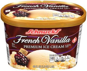 Schnucks French Vanilla Premium Ice Cream 48 fl. oz. Tub