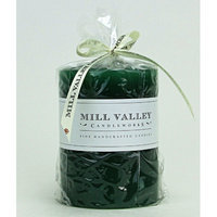 Mill Valley Candleworks Evergreen Scented Pillar Candle Size: 5