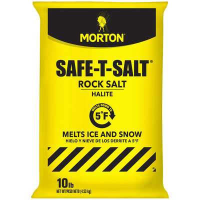 Morton® Safe-T-Salt® Rock Salt 10 lb. Bag