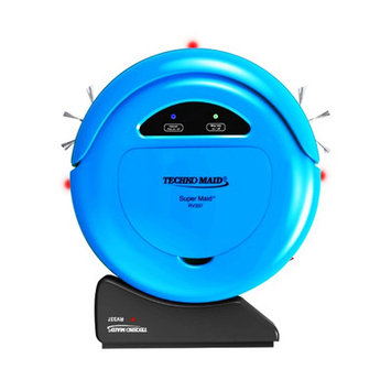 Techko Maid Vacuums RV337 Robotic Vacuum in Blue Blues RV337-BL