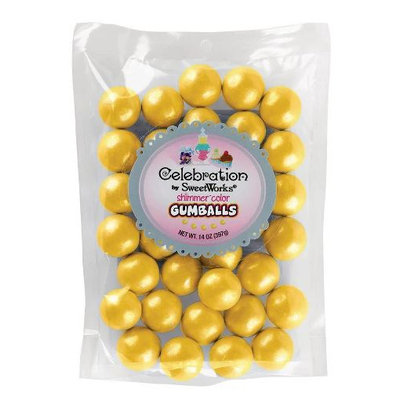 Sweetworks® Celebration Shimmer Gumballs Yellow