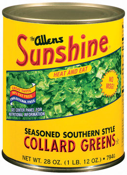 The Allens Sunshine Seasoned Southern Style Collard Greens 28 Oz Can