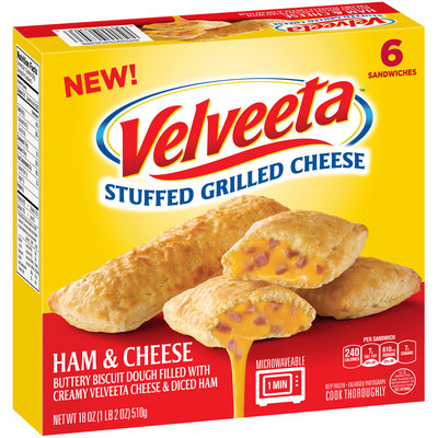 Velveeta™ Ham & Cheese Stuffed Grilled Cheese Sandwiches 6 ct Box