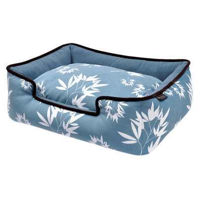 PLAY Bamboo Blue Lounge Dog Bed Small